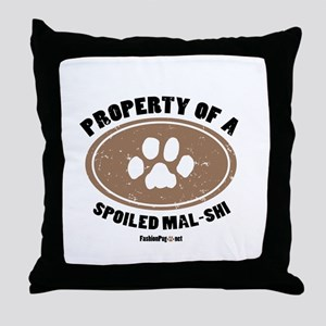 Mal-Shi dog Throw Pillow
