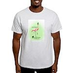 St Patrick's Day Flamingo Ash Grey T-Shirt