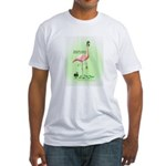 St Patrick's Day Flamingo Fitted T-Shirt