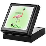 St Patrick's Day Flamingo Keepsake Box