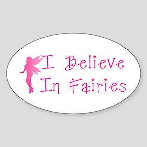 Believe in Fairies Oval Sticker