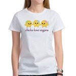 Chicks Love Vegans Women's T-Shirt