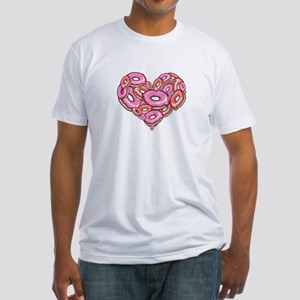 Heart of Donuts Fitted T-Shirt