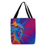 Pop Art Statue of Liberty Polyester Tote Bag