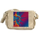 Pop Art Statue of Liberty Messenger Bag