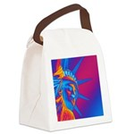 Pop Art Statue of Liberty Canvas Lunch Bag