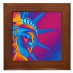 Pop Art Statue of Liberty Framed Tile