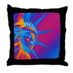 Pop Art Statue of Liberty Throw Pillow