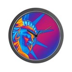 Pop Art Statue of Liberty Wall Clock