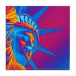 Pop Art Statue of Liberty Tile Coaster
