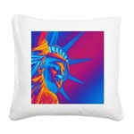Pop Art Statue of Liberty Square Canvas Pillow