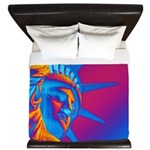 Pop Art Statue of Liberty King Duvet