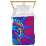 Pop Art Statue of Liberty Twin Duvet Cover