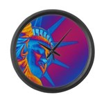 Pop Art Statue of Liberty Large Wall Clock