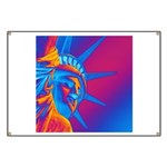 Pop Art Statue of Liberty Banner