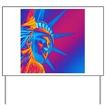 Pop Art Statue of Liberty Yard Sign