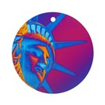Pop Art Statue of Liberty Round Ornament