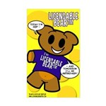 Licensable BearTM Rectangle Sticker