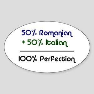 Italian & Romanian Oval Sticker