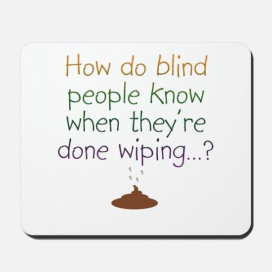 Blind Wipe Mousepad