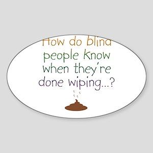 Blind Wipe Oval Sticker