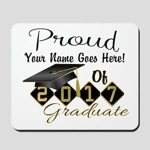 Proud 2017 Graduate Black Mousepad