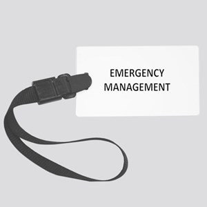 Emergency Management - Black Large Luggage Tag