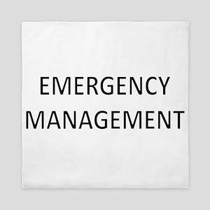 Emergency Management - Black Queen Duvet