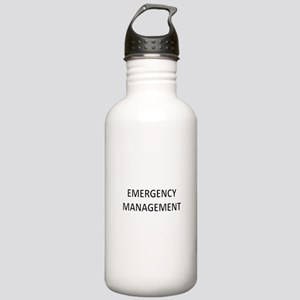 Emergency Management - Black Stainless Water Bottl
