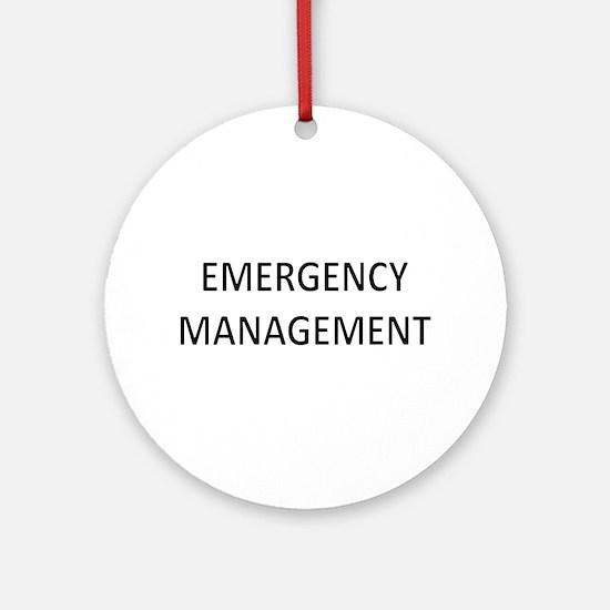 Emergency Management - Black Ornament (Round)