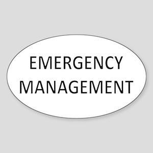 Emergency Management - Black Sticker (Oval)