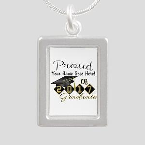 Proud 2017 Graduate Black Necklaces