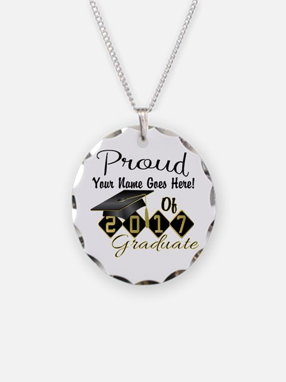 Proud 2017 Graduate Black Necklace