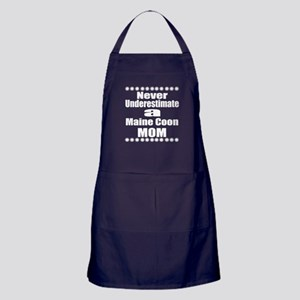 Never Underestimate main coon Cat Mom Apron (dark)
