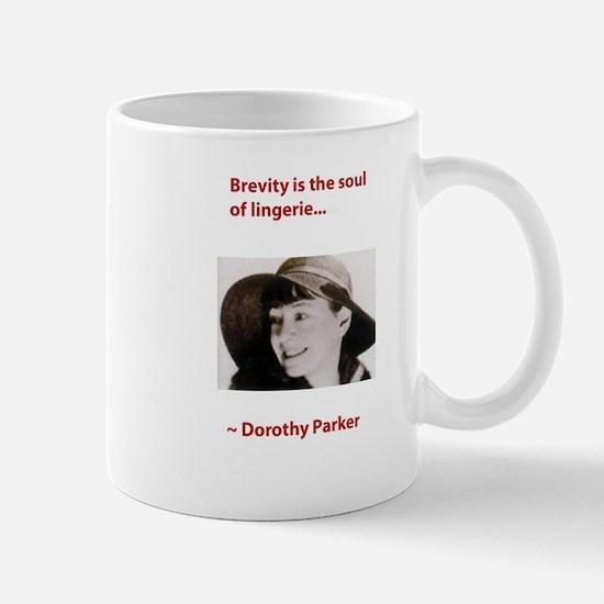 Dorothy_parker brevity lingerie.psd Mugs