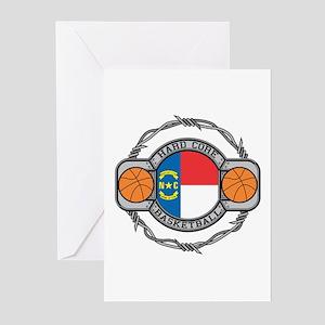 North Carolina Basketball Greeting Cards (Package