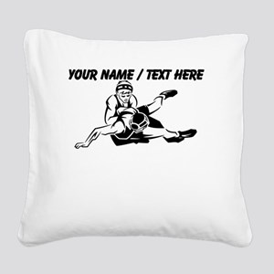Custom Wrestling Square Canvas Pillow