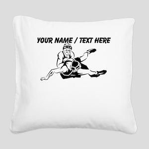 Custom Wrestling Square Canvas Pillow