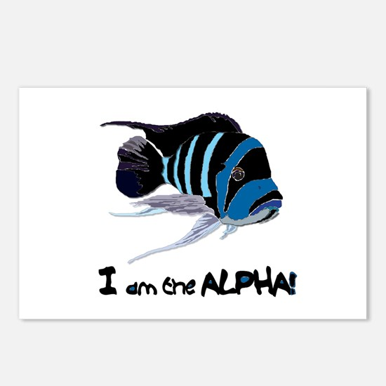 I am the Alpha (white) Postcards (Package of 8)