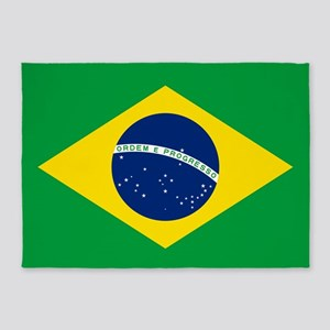 Flag of Brazil 5'x7'Area Rug