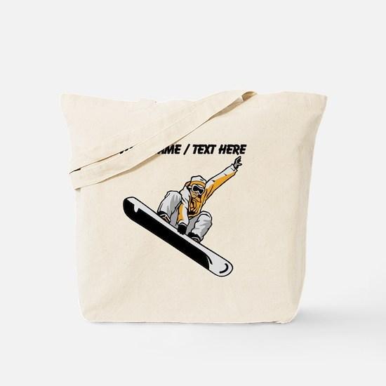 Custom Snowboarder Tote Bag