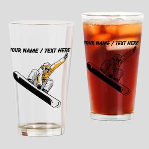 Custom Snowboarder Drinking Glass