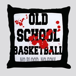 Old School Basketball Throw Pillow
