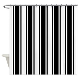 Ticking Stripe Shower Curtains