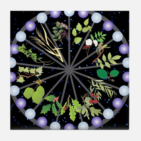 Celtic Calendar of Trees Tile Coaster