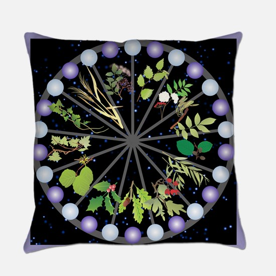 Celtic Calendar of Trees Everyday Pillow