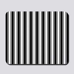 Black White Ticking Stripe Mousepad