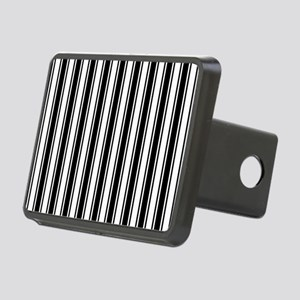 Black White Ticking Stripe Hitch Cover
