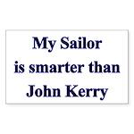 My Sailor is smarter than John Kerry Sticker (Rec
