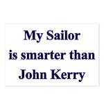 My Sailor is smarter than John Kerry Postcards (P